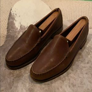 Allen Edmonds Classic Brown Leather Loafers, 8.5